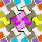 Puzzle divertido Estampado Vectorial Sin Costura