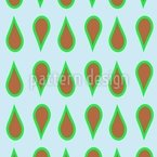 Chocolate Mint Drops Repeating Pattern