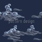 Meereswellen Musterdesign