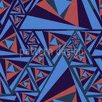 Kippeffekt Der Dreiecke Nahtloses Vektormuster