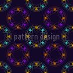 Círculos de Design de padrão vetorial sem costura
