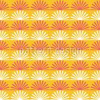 Floral Sunshine Seamless Vector Pattern Design