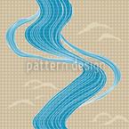 Japanischer Fluss Nahtloses Vektormuster