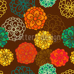 Zinnia Boheme Seamless Vector Pattern Design
