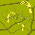 Tukan Grün Nahtloses Vektor Muster
