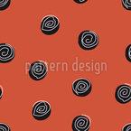 Squiggles On Dots Seamless Vector Pattern