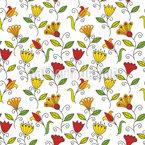 Summer Flower Joy Repeating Pattern