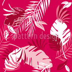 Honolulu Pink Seamless Vector Pattern Design