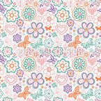 Butterflies Awake Seamless Vector Pattern Design