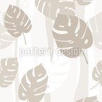 Beige Leaves Repeat Pattern