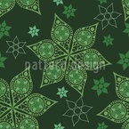 Russian Christmas Stars Seamless Vector Pattern Design