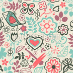 Piepsi In The Sweet Paradise Seamless Vector Pattern Design