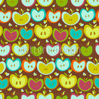 Sweet Apple Patchwork Vector Ornament