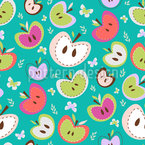 The Sweetest Apples Seamless Vector Pattern Design
