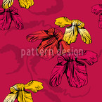 Orchid Pink Seamless Vector Pattern Design