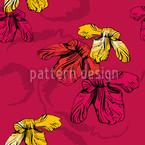 Orchidee Pink Nahtloses Vektormuster