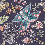 Polynesian Fauna Pattern Design