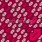 Kiss Kiss Seamless Vector Pattern Design