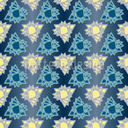 Triangel Sterne Nahtloses Vektormuster