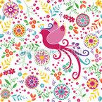Die Vogelkönigin Im Sommer Muster Design