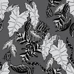 Retro Blätter Designmuster