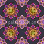 Lotus Sterne Vektor Muster