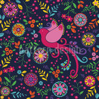 The Bird Queen Feast At Night Repeating Pattern