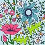 Nostalgic Garden Seamless Pattern