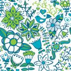 Kühles Blumen Paradies Nahtloses Vektormuster