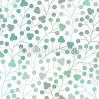 Berries In Winter Seamless Vector Pattern Design