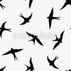 The Flight Of The Swallows Seamless Vector Pattern Design