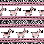 Süsse Zebra Streifen Rapportiertes Design