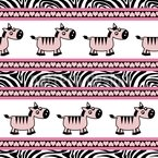 Sweet Zebra Stripes Seamless Vector Pattern Design