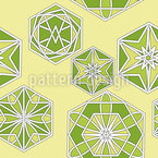 Green Morocco Seamless Vector Pattern Design