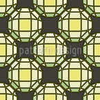Sun Is Shining Through Tiffany Glass Seamless Pattern