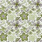 Fantasies In Spring Seamless Vector Pattern
