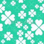 Lucky Clover Seamless Vector Pattern Design