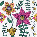 Blumen Des Ostens Nahtloses Vektormuster
