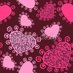 Lady Hearts Musterdesign