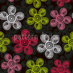 Flower Art Seamless Vector Pattern
