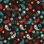 Outono De Paisley Design de padrão vetorial sem costura
