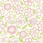 Little Flower Rain Repeat Pattern
