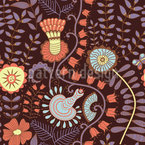 Feenblumen Nahtloses Vektormuster