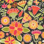 Cheerful Garden Folklore Pattern Design