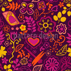 Piepsi In The Disco Jungle Seamless Vector Pattern Design