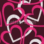 Herz Clique Nahtloses Vektormuster
