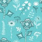 Die Blumen Aus Aquapulco Nahtloses Vektormuster