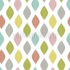 Leaves In Order Seamless Vector Pattern Design