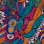 Hippie Festival Seamless Vector Pattern Design
