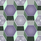 Hexagonal Movement Seamless Vector Pattern Design